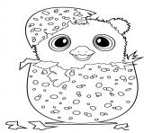 Coloriage Hatchy hatchimals penguala rose  dessin