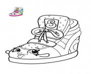 shopkins espadrille chaussure mode dessin à colorier