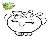 shopkins pomme verte dessin à colorier