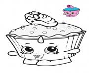 Coloriage shopkins cupcake blue pink