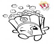 shopkins popcorn dessin à colorier