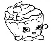 Coloriage shopkins cupcake cute