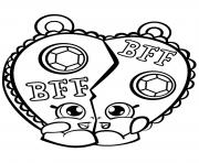 chelsea charm shopkin BFF dessin à colorier
