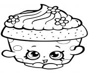 cupcake petal shopkin dessin à colorier