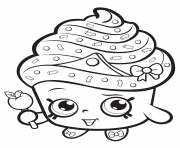 Coloriage cupcake queen shopkins