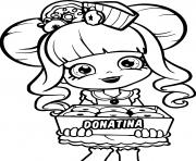 shopkins donatina dessin à colorier