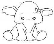 bebe elephant animaux enfants dessin à colorier