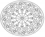 chandelles mandala de noel dessin à colorier