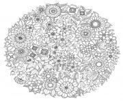 mandala fleurs antistress adulte rosace de fleur dessin à colorier