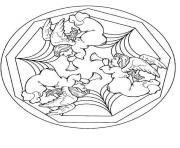 Coloriage mandala noel couronne de noel dessin
