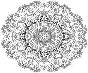 Coloriage incredible mandala adulte