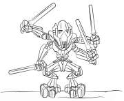 Coloriage lego star wars general grievous