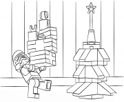 Coloriage lego star wars clone christmas