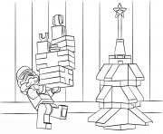 Coloriage lego star wars battle droid dessin