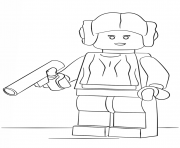Coloriage lego star wars princess leia