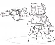 Coloriage lego star wars boba fett
