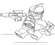 Coloriage lego star wars clone trooper