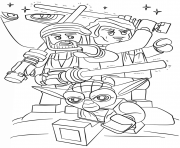 Coloriage lego star wars clone wars