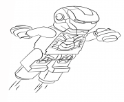 Coloriage lego iron man super heroes