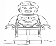 Coloriage legoman of steel super heroes
