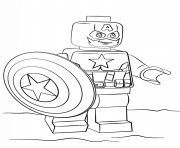 Coloriage lego captain america super heroes
