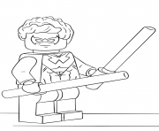 Coloriage lego nightwing super heroes