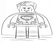Coloriage lego superman super heroes