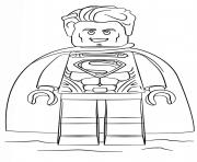 lego superman super heroes dessin à colorier