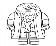 Coloriage lego rubeus hagrid minifigure harry potter