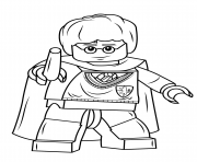 Coloriage lego harry potter with wand harry potter