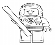 Coloriage lego hermione granger harry potter