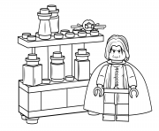 Coloriage lego severus snape harry potter