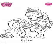 Coloriage palace pets bloom disney