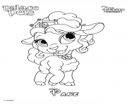 Coloriage page princess disney