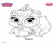 palace pets fern disney dessin à colorier