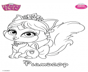 plumdrop princess disney dessin à colorier