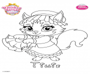 whisker haven tillie princess palace pet disney dessin à colorier