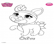 Coloriage olive princess disney