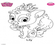 palace pets lily disney dessin à colorier