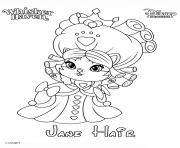 whisker haven jane hair princess palace pet disney dessin à colorier