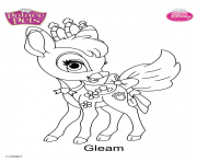 gleam princess disney dessin à colorier