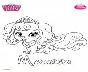 macaron princess disney dessin à colorier