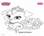 truffles princess disney dessin à colorier