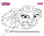 thistleblossom princess disney dessin à colorier