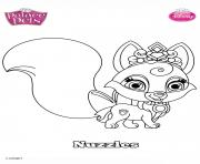 palace pets nuzzles disney dessin à colorier