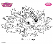 sundrop princesss disney dessin à colorier