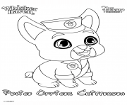 Coloriage whisker haven police officer critterzen princess palace pet disney