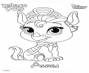 Coloriage alora princess disney