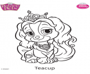 palace pets teacup disney dessin à colorier
