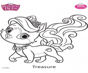 Coloriage palace pets treasure disney